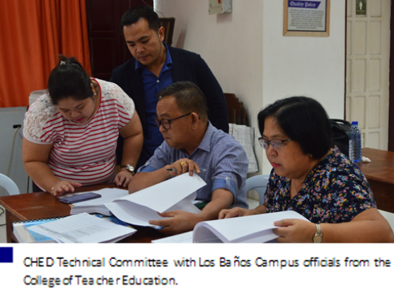 CHED Technical Committee  reviews LSPU Grad Programs for COPC