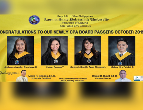 Congratulations to our New CPA Board Passers
